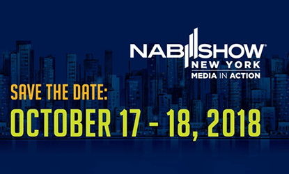 Visit Our Booth N1058 at NABSHOW in New York, October 17-18