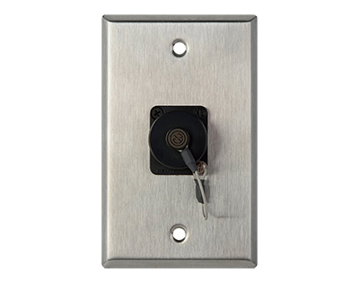 WPL-1214 1-Gand Stainless Steel Wall Plate with Dust Cap