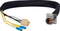 HF-EDWBI-ST-06IN Camplex LEMO EDW to Dual ST Internal Fiber Optic Breakout Cable - 6 Inch