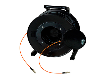 HF-TR1M1-LC-1000 TAC1 Simplex 1 Channel OM1 Multimode LC Fiber Optic Tactical Cable Reel 1000 Foot