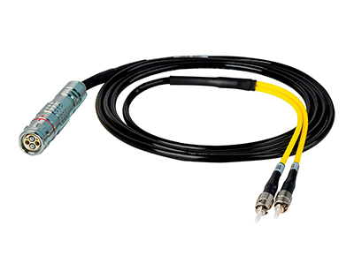 HF-FUWST-BO-06 Camplex LEMO FUW to Dual ST In-Line Fiber Optic Breakout Cable